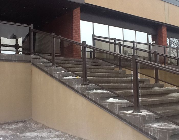 CPL Aluminum Railings & Glass (commercial glass railing ) 3