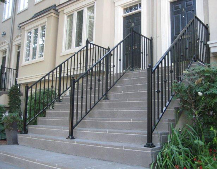 Cpl Aluminum Railings Glass Residential Metal Railing